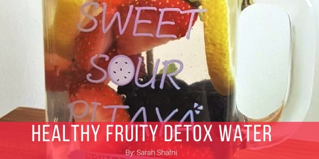 healthy fruity detox water