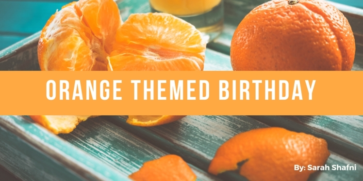 orange themed birthday