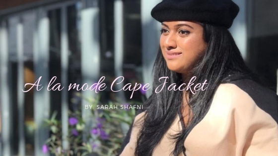 A la mode Cape Jacket