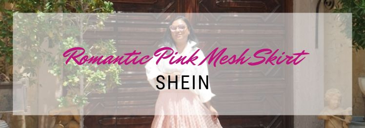 Romantic Pink Mesh Skirt